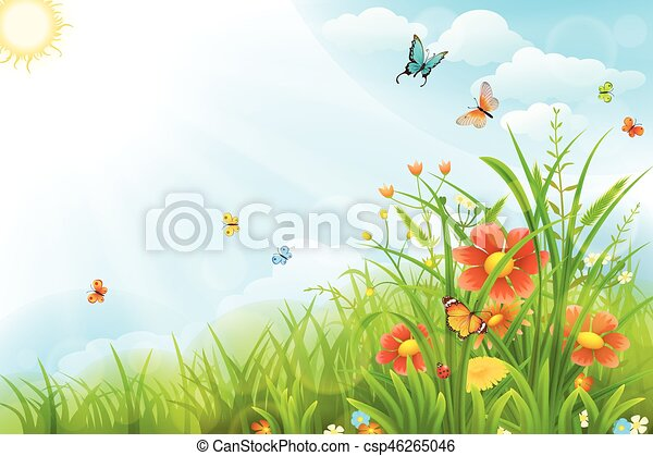 Beautiful summer background - csp46265046
