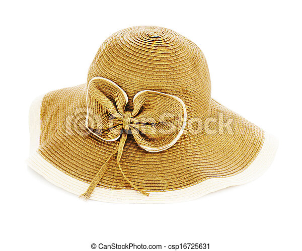 Beautiful summer hat isolated on white background. - csp16725631