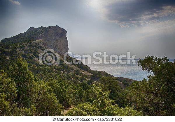 Beautiful summer landscape in Crimea - csp73381022