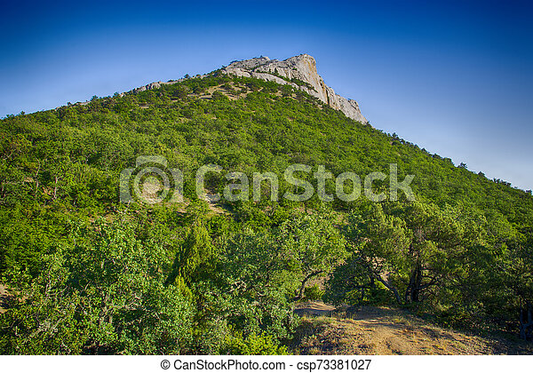 Beautiful summer landscape in Crimea - csp73381027