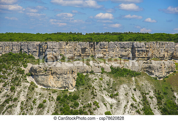 Beautiful summer landscape in Crimea - csp78620828