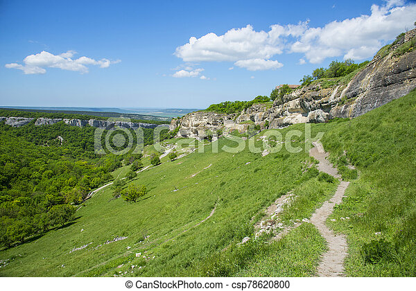 Beautiful summer landscape in Crimea - csp78620800