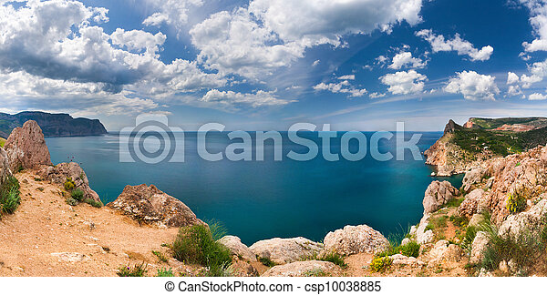 Beautiful summer landscape in the Crimea - csp10038885