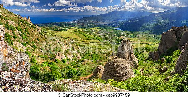 Beautiful summer landscape in the Crimea - csp9937459