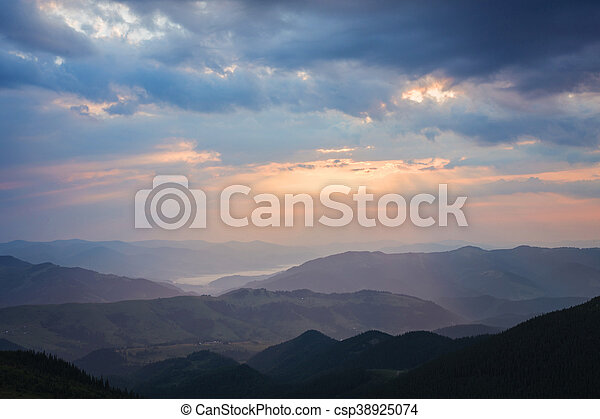 beautiful summer landscape in the mountains. - csp38925074