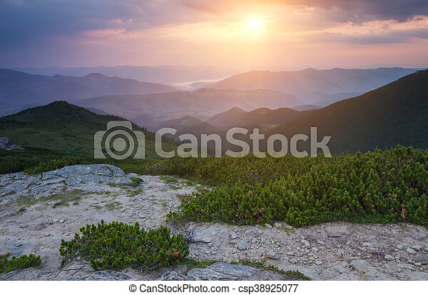 beautiful summer landscape in the mountains. - csp38925077