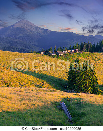 Beautiful summer landscape in the mountains - csp10200085