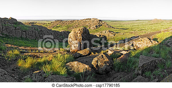 Beautiful summer landscape in the mountains - csp17790185