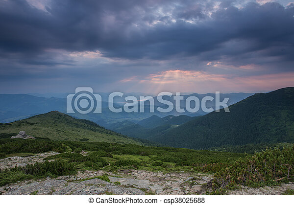 beautiful summer landscape in the mountains. - csp38025688