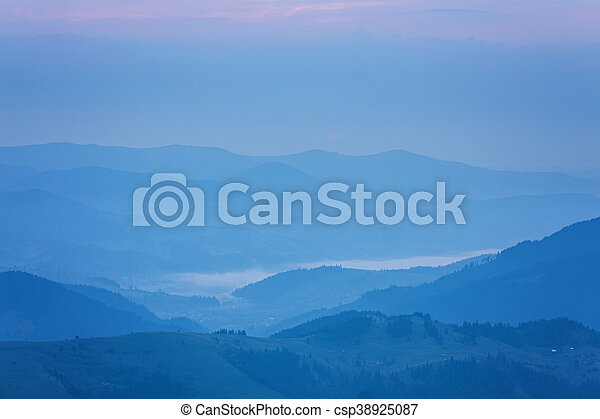 beautiful summer landscape in the mountains. - csp38925087