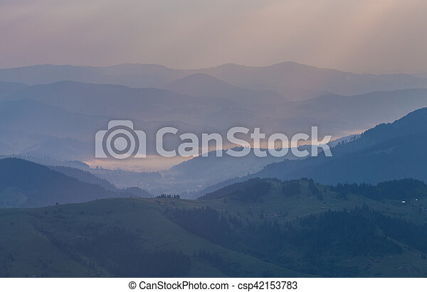 beautiful summer landscape in the mountains. - csp42153783