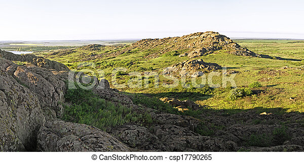 Beautiful summer landscape in the mountains - csp17790265