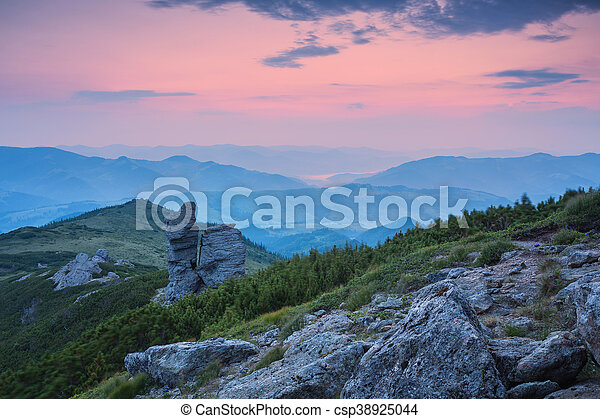 beautiful summer landscape in the mountains. - csp38925044