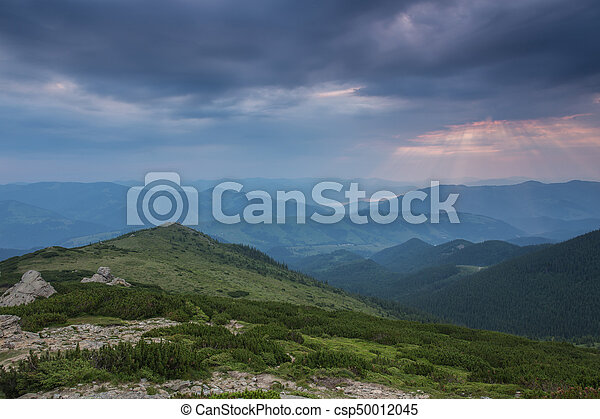 beautiful summer landscape in the mountains. - csp50012045
