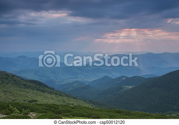 beautiful summer landscape in the mountains. - csp50012120