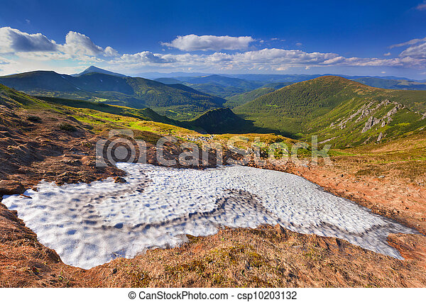 Beautiful summer landscape in the mountains - csp10203132