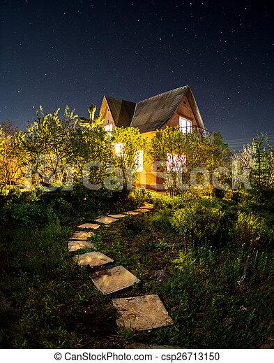 Beautiful summer night in Crimea - csp26713150