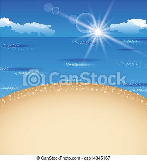 Beautiful summer postcard with beach - csp14345167