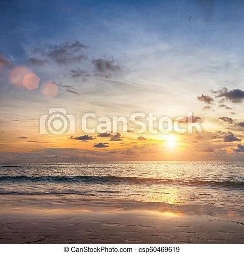 Beautiful sunrise in the Ocean - csp60469619