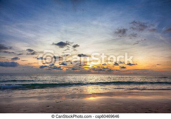 Beautiful sunrise in the Ocean - csp60469646
