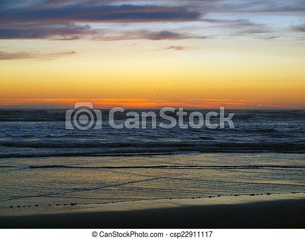 Beautiful Sunset at the Ocean - csp22911117