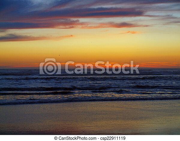 Beautiful Sunset at the Ocean - csp22911119