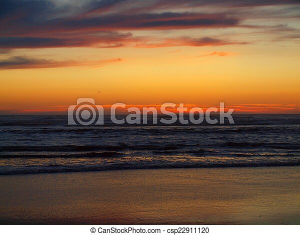 Beautiful Sunset at the Ocean - csp22911120