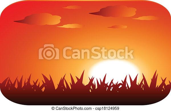 beautiful sunset - csp18124959