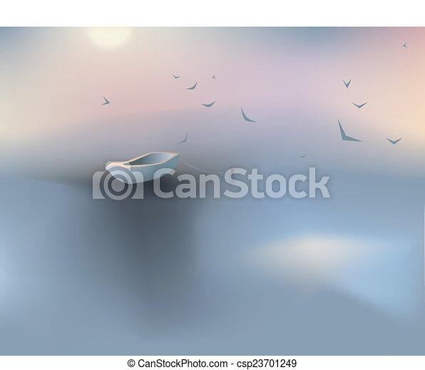 Beautiful sunset - csp23701249