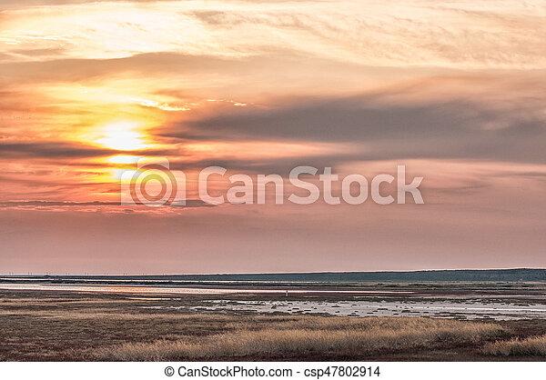 Beautiful sunset in Crimea - csp47802914
