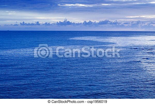 beautiful sunset in the ocean - csp1956019