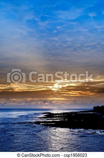 beautiful sunset in the ocean - csp1956023