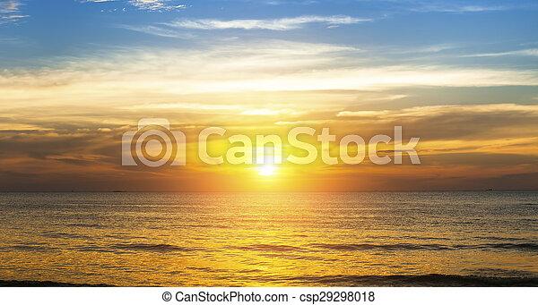 Beautiful sunset in the Sea beach. - csp29298018
