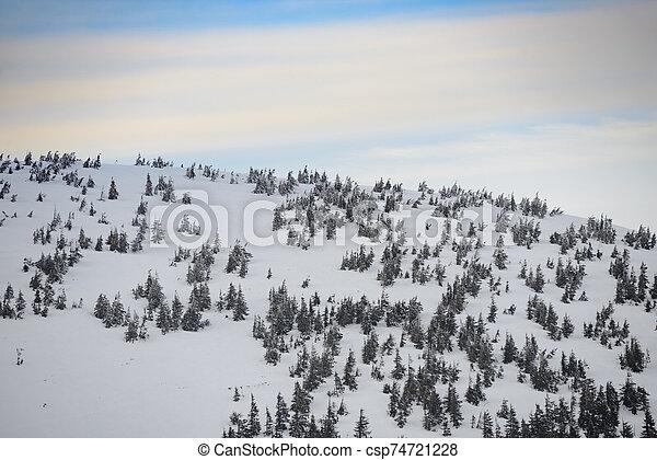 Beautiful Sunset in Winter Mountains. - csp74721228
