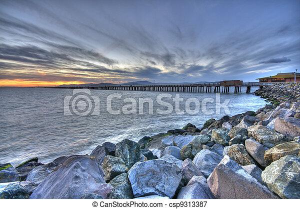 Beautiful Sunset Marina - csp9313387