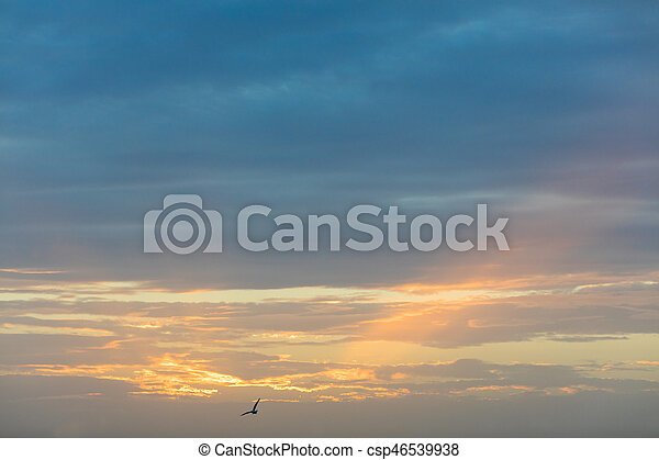 Beautiful sunset over Mediterranean sea - csp46539938