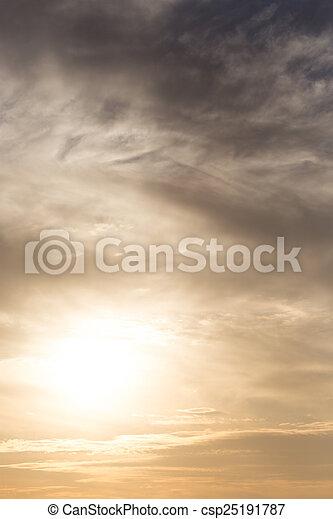 beautiful sunset - csp25191787