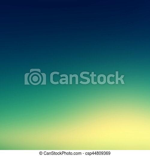 Beautiful sunset sky / Blue Colors Sunset sky wallpaper, vintage Toned Image - csp44809369