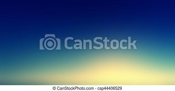 Beautiful sunset sky / Blue, Orange And Yellow Colors Sunset sky wallpaper - csp44406529