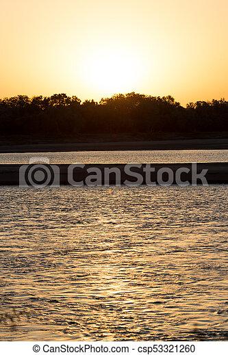 beautiful sunset - csp53321260