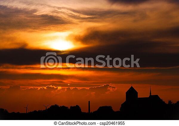 Beautiful sunset - csp20461955