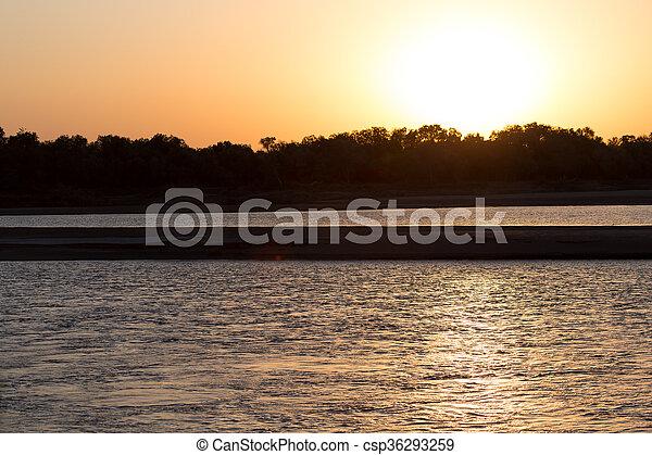 beautiful sunset - csp36293259