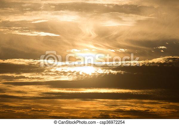 beautiful sunset - csp36972254