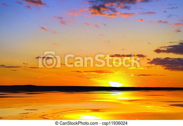 Beautiful sunset - csp11936024