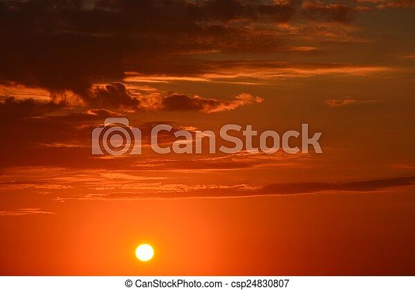 Beautiful sunset - csp24830807