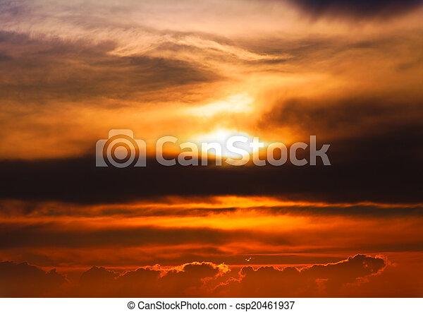 Beautiful sunset - csp20461937