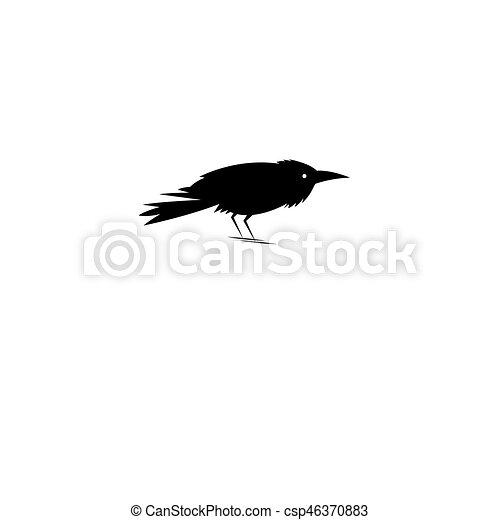 Beautiful symbol of the black Raven - csp46370883