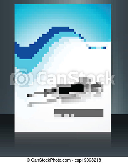 Beautiful syringe reflection world health day template brochure medical symbol colorful wave design vector - csp19098218