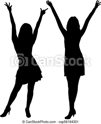 beautiful tall women on fashion show silhouette vector vector rh canstockphoto com fashion show clip art free fashion show clipart images