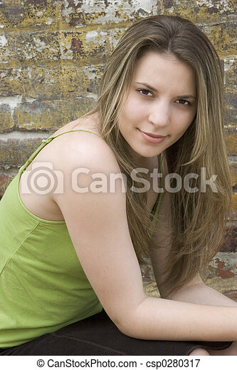 Beautiful Teen Girl - csp0280317